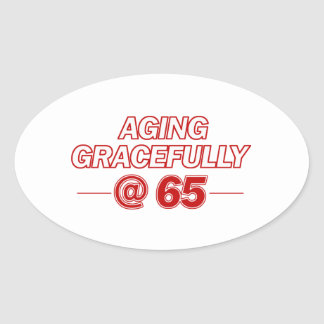 cool 65 years old gifts oval sticker