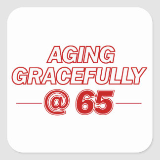 cool 65 years old gifts square sticker