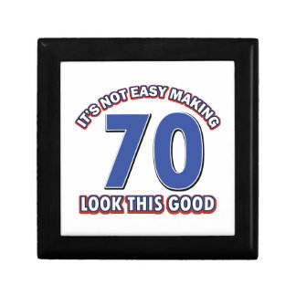 Cool 70 year birthday designs small square gift box