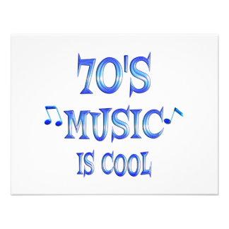 Cool 70s custom invitations