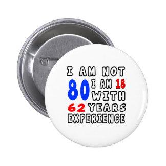 Cool 80 Birthday Designs 6 Cm Round Badge