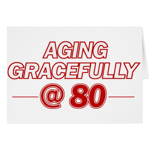 cool 80 years old gifts card