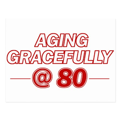 cool 80 years old gifts postcard