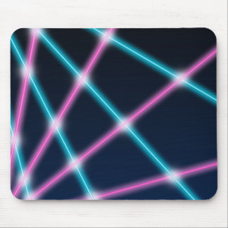 Cool 80s Laser Light Show Background Retro Neon Mouse Pad