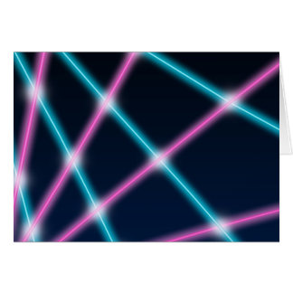 Cool 80s Laser Light Show Background Retro Neon Note Card