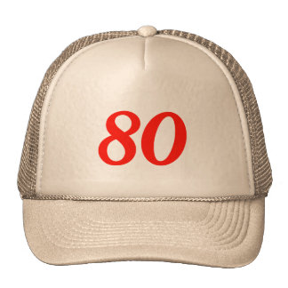 Cool 80th Birthday Gifts Trucker Hats