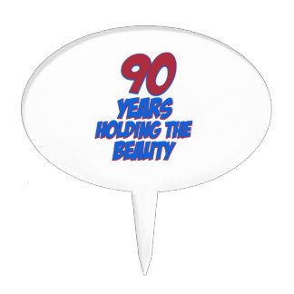 cool 90 years old birthday designs cake topper