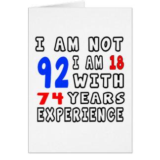 Cool 92 Birthday Designs Cards