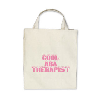 Cool ABA Therapist (Pink) Canvas Bag