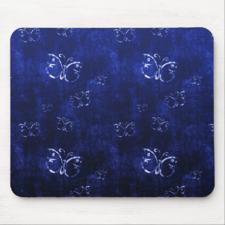 Cool  abstract antique butterflies  blue mousepad