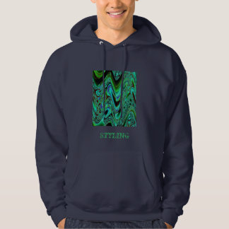 Cool abstract art surf hoodie for men and boys