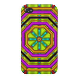 Cool abstract case with geometric shapes case for the iPhone 4