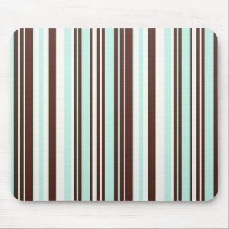 Cool abstract chocolate mint stripes mousepad