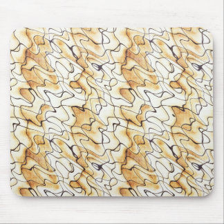 Cool   abstract chocolate sand stripes mousepad