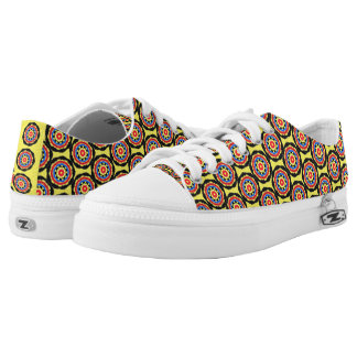 Cool abstract circle pattern low tops
