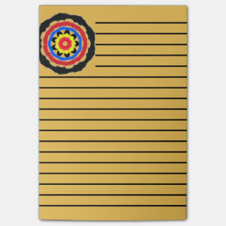 Cool abstract circle pattern post-it notes