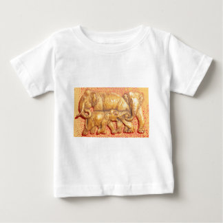 Cool Abstract Colorful Vector Elephant Family Gift Baby T-Shirt
