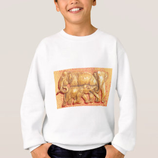 Cool Abstract Colorful Vector Elephant Family Gift Sweatshirt