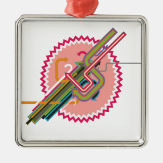 Cool abstract design christmas ornament