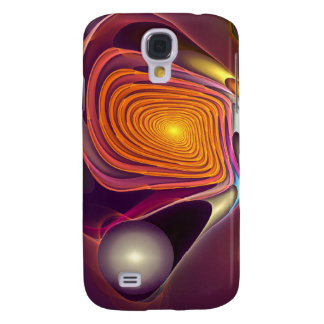 Cool abstract fractal swirling iPhone 3 speckcase Galaxy S4 Covers