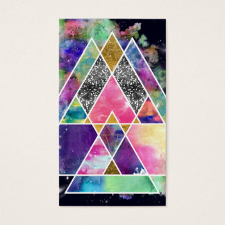 Cool abstract geometric triangles watercolor