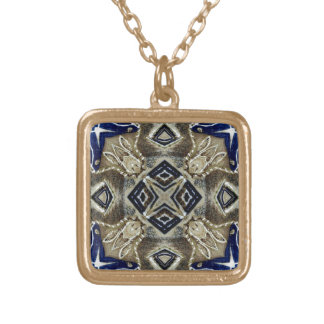 Cool Abstract Gold Plated Necklace