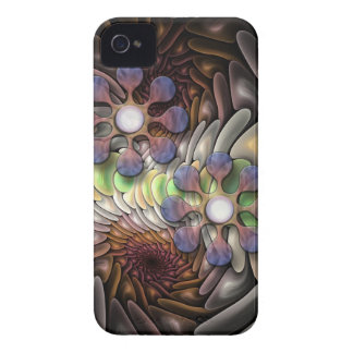 Cool abstract iPhone 4 case with Fantasy flowers