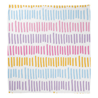 Cool Abstract Pastel Colors Pattern Bandana