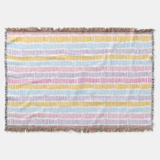 Cool Abstract Pastel Colors Pattern Throw Blanket