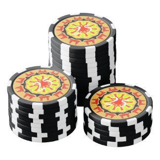 Cool abstract patter poker chips