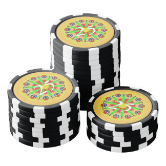 Cool abstract pattern poker chips