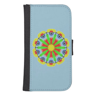 Cool abstract pattern samsung s4 wallet case