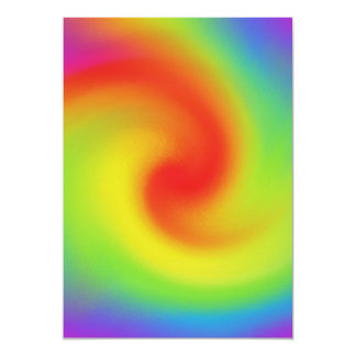 Cool Abstract Rainbow Wave Art 13 Cm X 18 Cm Invitation Card