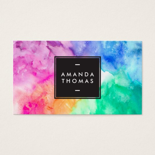 Cool abstract watercolor chic modern makeup artist business