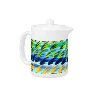 Cool Abstract Watercolour Teapot