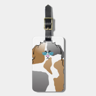 Cool Abyssinian Guinea Pig in Sunglasses Luggage Tag