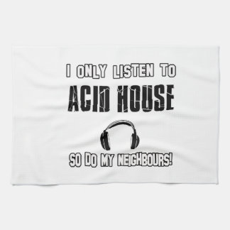 Cool ACID HOUSE designs Tea Towel