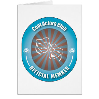 Cool Actors Club Greeting Card