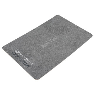 Cool Add Remove Text Grey Leather Look Floor Mat