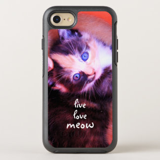 Cool Adorable Kitten Live Love Meow OtterBox Symmetry iPhone 7 Case