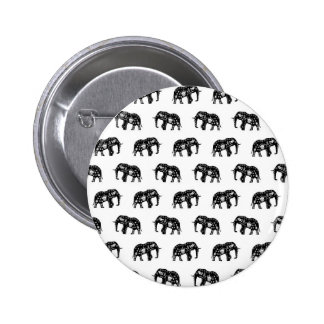 Cool Africa Pattern Elephant Picture 6 Cm Round Badge