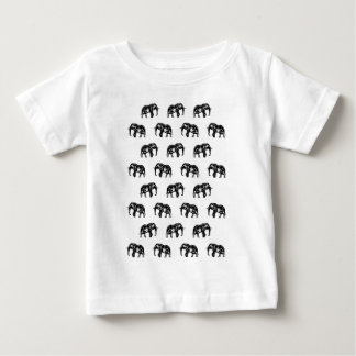 Cool Africa Pattern Elephant Picture Baby T-Shirt