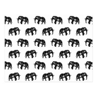 Cool Africa Pattern Elephant Picture Postcard