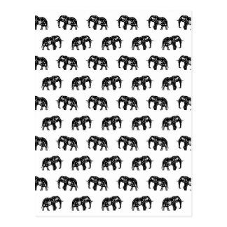Cool Africa Pattern Elephant Picture Post Card
