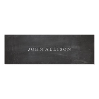 Cool Aged Vintage Guy s Black Calling Card Business Cards