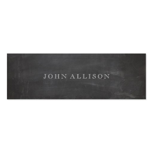 Cool Aged Vintage Guy's Black Calling Card Business Cards