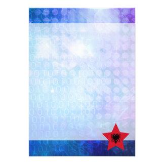 Cool Albania Flag Star 13 Cm X 18 Cm Invitation Card