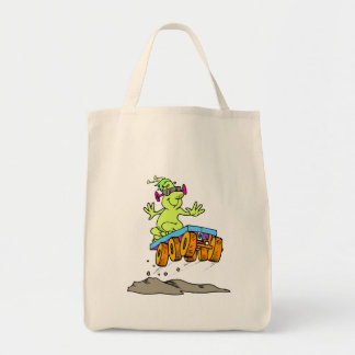 Cool alien on rover tote bags