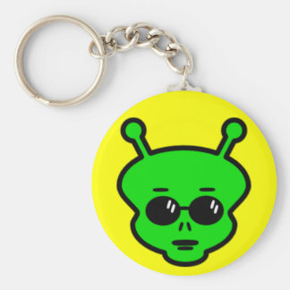 Cool Alien with sunglasses keychain