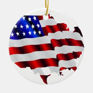 Cool America, US/USA, SAD flag, Sochi games Round Ceramic Decoration